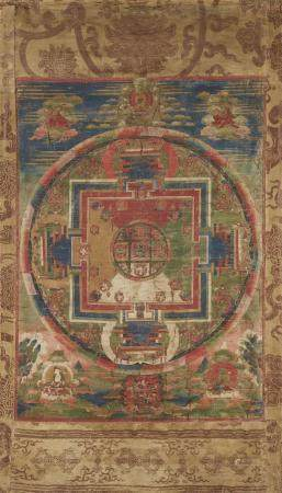 A Tibetan mandala of Guhyasamaja Akshobhyavajra.