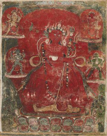 A Nepalese thangka (paubha) of Vajravarahi. 18th/19th centur