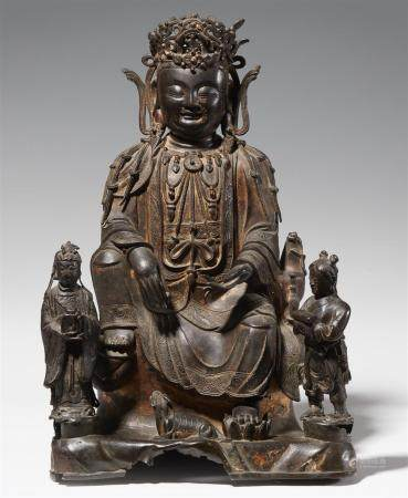 A bronze figure of Guanyin. Ming dynasty, 17th century