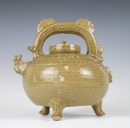 CIZHOU TEAPOT AND COVER, BEFORE MING