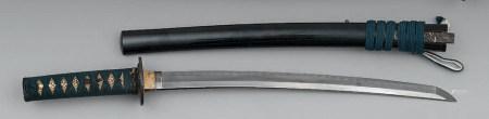 WAKIZASHILame de 40,7 cm, non signée, suriage, trois mekugi-a