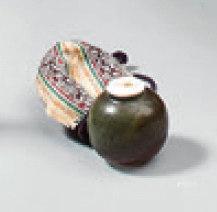 CHAÏRE, pot a thé, en grés émaillé, couvercle ivoire.Marque:
