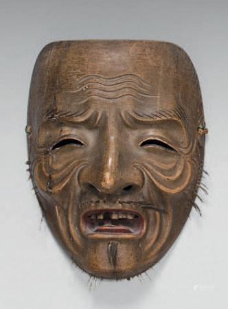 Masque théâtre NO, en bois peint. (Shôjo)XVIIIème siècle (Rép