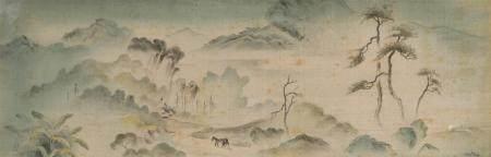 Tran Van Tho (1917 - ?)Peinture à l'encre et coul sur soie