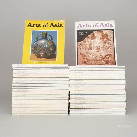 A Group of Sixty-Seven Issues of 'Arts of Asia' Magazine, (1975-1993), 1975-1993年《亞洲藝術》雜誌期刊一組共六十七本,