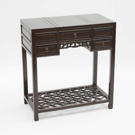 A Chinese Rosewood Dressing Table, 花梨梳妝台, 31.2 x 28.6 x 15.4 in — 79.2 x 72.6 x 39.2 cm