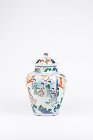 十七世紀 五彩將軍罐