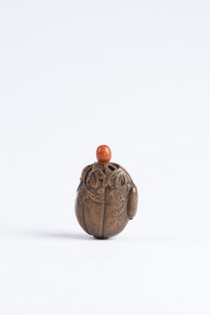 清 竹雕瓜瓞綿綿鼻煙壺
