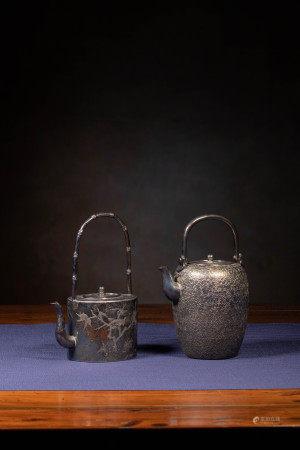 明治金工 純銀製小茶壺組
