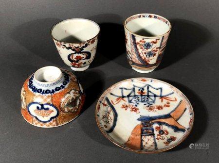 CHINE et JAPON. Lot en porcelaine à décor Imari comprenant de