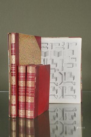 JAMIN (Léon)  - L'Enseignement professionnel du menuisier 1894-96 2 volumes [...]