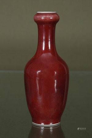 Chine  - Vase balustre à col à renflement  En porcelaine émaillée [...]