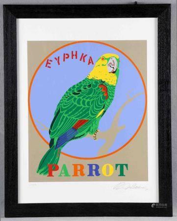 """INDIANA, ROBERT. """"Eureka. Parrot Eyphka"""". Serigrafía. Procedente del portfolio """"The [...]"""