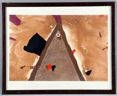 """GUINOVART, JOSEP. """"Composición"""". Litografía original. Numerada 13/75, y firmada a [...]"""