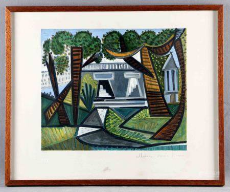 "PICASSO, PABLO. ""Le vert galant"". Litografía sobre papel Arches. Edición limitada, [...]"
