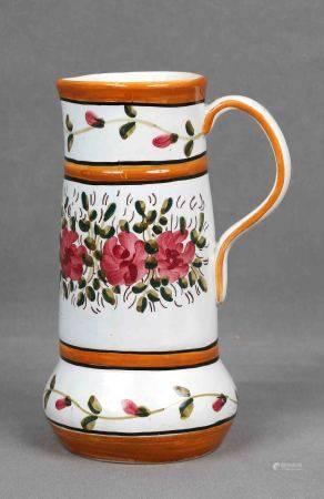 Jarra. En cerámica española GARLAZ, de Manises, policromada y decorada con motivos [...]