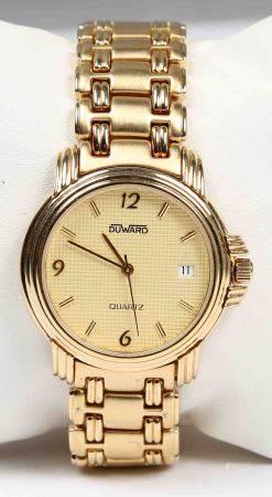 Reloj de pulsera, de la marca DUWARD.  Chapado de 5 micras en oro, con esfera [...]