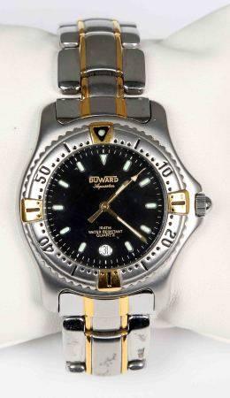 Reloj de pulsera, de la marca DUWARD, AQUASTAR.  En acero y dorado, con esfera [...]