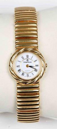 Reloj de pulsera, de la marca CHRISTIAN DUVENET. Chapado en oro, con esfera blanca [...]