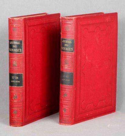 """""""Journal des voyages et des aventures de terre et de mer"""". Dos volúmenes. Temporadas [...]"""