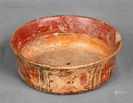 Vasija maya, estilo clásico, S.VIII-X. En cerámica policromada, decorada con [...]