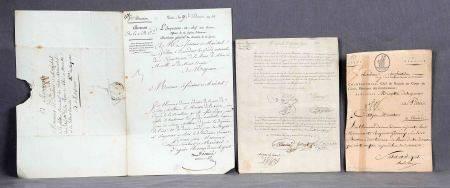 Lote formado por 3 cartas napoleónicas. -