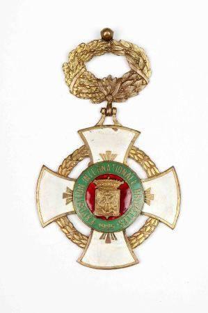 Medalla conmemorativa de la Exposición Universal de Bruselas, 1925. En dorado y [...]