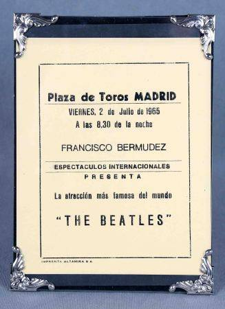 Flyer publicitario del concierto de The Beatles en Madrid. Plaza de Las Ventas, 2 de [...]