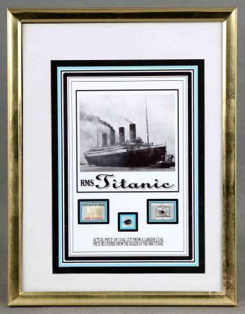 Fragmento de carbón extraido del Titanic. Ed. The Zone. Con certfiicado. Enmarcado. [...]