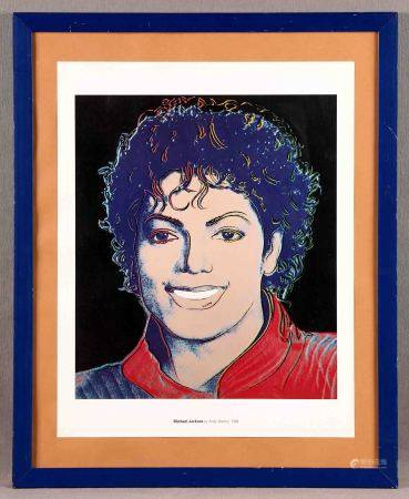 """WARHOL, ANDY. """"Michael Jackson"""". Offset. Ed. Andy Warhol Foundation for the Visual [...]"""
