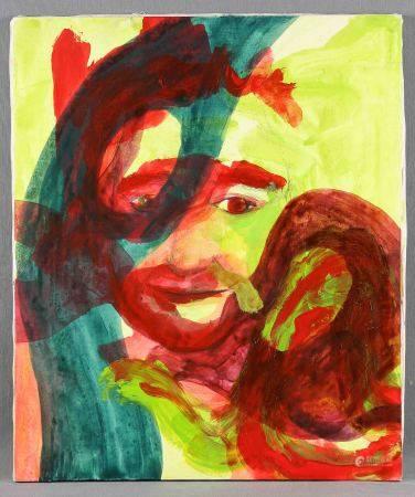 """YOHUATE, SARA. """"Micham"""".  Técnica mixta sobre lienzo, de 55x46 cm. Al dorso, [...]"""