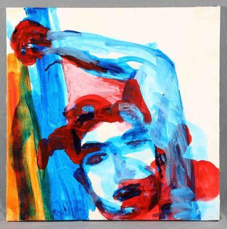 """YOHUATE, SARA. """"Sueño enjaulado"""". Técnica mixta sobre lienzo, de 50x50 cm. Al [...]"""