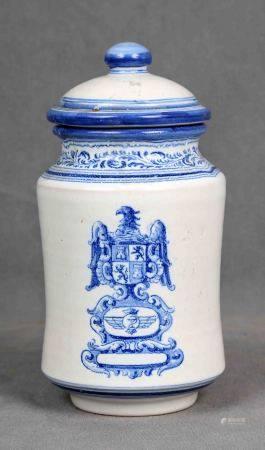 RUIZ DE LUNA. Albarelo de farmacia, circa 1910-1920. En cerámica española de [...]