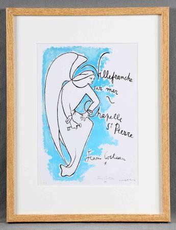 """COCTEAU, JEAN. """"Chapelle St. Pierre"""".  Litografía color. Justificada H.C., [...]"""