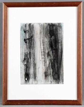 """HARTUNG, HANS. ATRIBUIDO. """"Composition"""". Técnica mixta, de 26x18 cm. Con firma y [...]"""