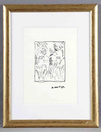 "MATISSE, HENRI. ATRIBUIDO. ""Paysage de Bretagne"".  Dibujo a tinta, de 30x22 cm. [...]"
