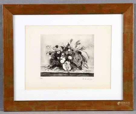"MATISSE, HENRI. ""Fleurs"". Heliograbado sobre papel Velin du Marais. Justificado H.C., [...]"