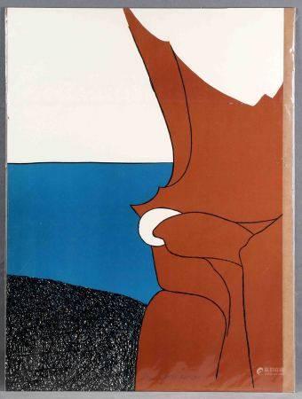 """GARDI ARTIGAS, JOAN. """"Le bijou blanc"""". Litografía color sobre papel Velin Arches. [...]"""