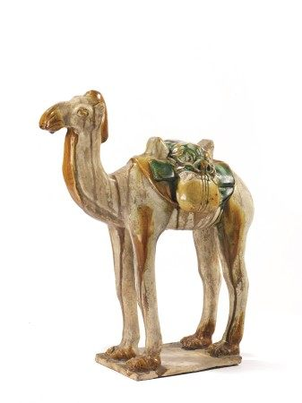 CAMMELLO IN TERRACOTTA, CINA, DINASTIA TANG (618-906)  - munito di sella e borse, [...]