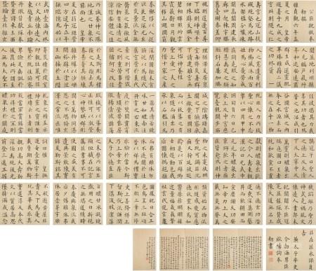 周寿祺(1872~1940) 楷书 临九成宫册