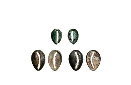 商-周•晋国地区青铜贝币一组三枚