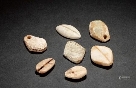 周•石贝币一组七枚