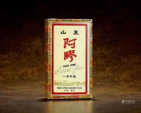 70年代初中国茶叶土产进出口公司山东省土产分公司监制山东阿胶