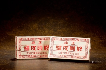 60-70年代天津健新药庄阿胶(出口装)