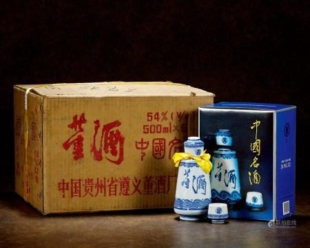 1996年青花瓷董酒(陈年老窖原箱)