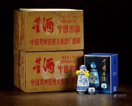 1996年青花瓷董酒(陈年老窖两原箱)