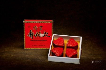 1992年天津达仁堂锦盒装清宫寿桃丸