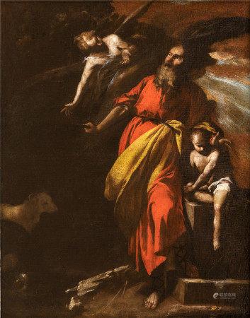 Antonio de Bellis, attribué à (vers 1616 - 1656)  - Le sacrifice d'Abraham Toile [...]