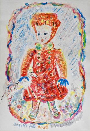 Constantin Terechkovitch (1902-1978) «Ma petite fille Amel» Lithographie sur [...]