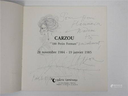 """Jean Carzou (1907-2000)  - Catalogue de l'exposition """"100 petits formats"""" à la [...]"""
